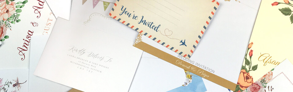 Personalised Wedding Envelopes